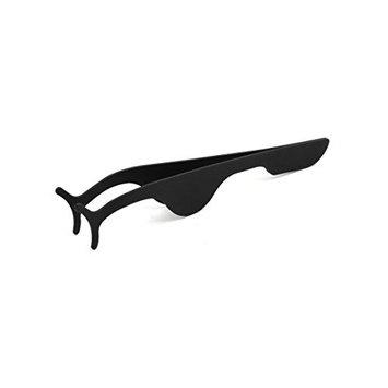 uxcell Black Metal Fake Eyelash Applicator Clip Remover Tweezer Makeup Tool
