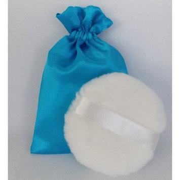 WHITE Silky Powder Puff 4.5 Inch (12cm) - *SHIPS FROM THE USA*