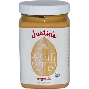 Justin's Peanut Butter, Classic, 16 Ounce (Pack of 2)