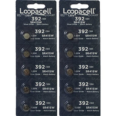 10 Loopacell 392/384 Silver Oxide Batteries