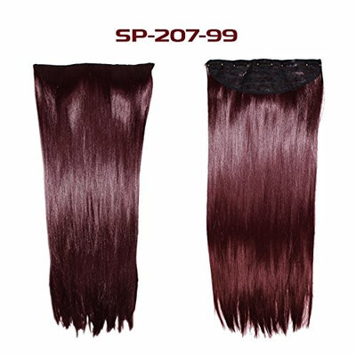 Wrap Around Synthetic Ponytail Clip in Hair Extensions One Piece Magic Paste Pony Tail Long Curly Wavy Soft Silky for Women Fashion and Beauty 18'' 20