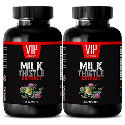 Milk thistle cleansing - MILK THISTLE EXTRACT - Kidney Support - 2 Bottle 120 Capsules