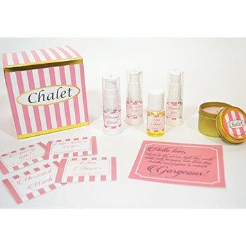 Chalet Skin Care Starter Set for Normal to Oily Skin includes face wash, toner oily skin, natural moisturizer oily skin, eye serum