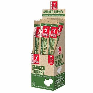 Caveman Foods Paleo – Certified, Keto Friendly, Gluten Free, Low Carb Smoked Turkey Snack Stick, 1 Ounce, 20 count [Smoked Turkey]