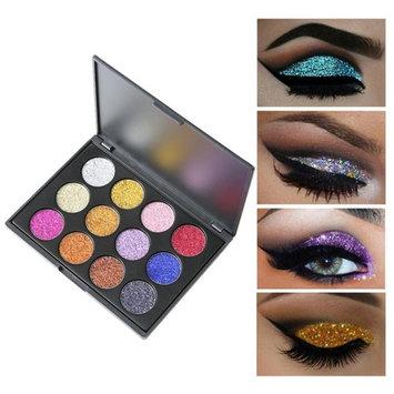 YJYdada Shimmer Glitter Eye Shadow Powder Palette Matte Eyeshadow Cosmetic Makeup