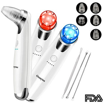 Blackhead Remover, Comedo Suction Exfoliating Machine Acne/Pimple/Comedone Extractor Tool Kit Fett & Facial Skin Pore Cleaner with 5 Suction Heads + 3 Stainless Blackhead Tools