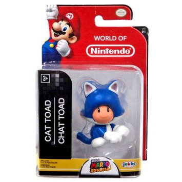 Jakks Pacific Super Mario 3D Worlds Cat Toad Mini Figure