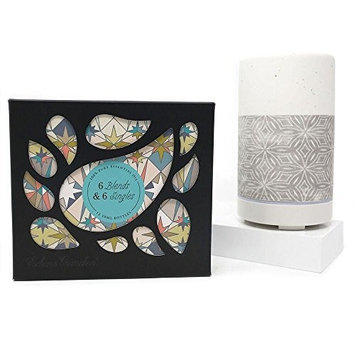 Edens Garden 6 Synergy Blends and 6 Singles Set, Gray Ombre Diffuser