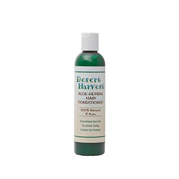 Desert Harvest Aloe-Herbal Hair Conditioner 8 oz - moisturizing, hydrating for dry, damaged hair, itchy scalp, dandruff, eczema, psoriasis, seborrhea, Sjogren's. 100% natural, paraben-free
