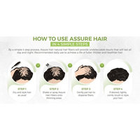 Assure Hair – Hair Building Fibers Made of Patented Natural Plant Fibers – Eliminates the Appearance of Baldness and Thinning Hair for Both Men and Women.