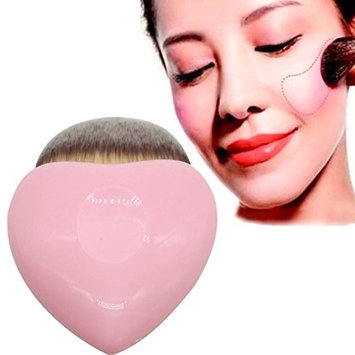 Binmer(TM) Pink Heart Shaped Powder Brush Blush Brush Makeup Cosmetic Brush