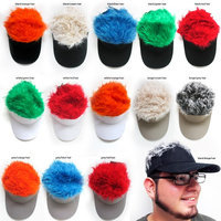 Alltopbargains Flair Hair Visor Hat Golf Wig Cap Fake Adjustable Gift Novelty Party Custome Gag