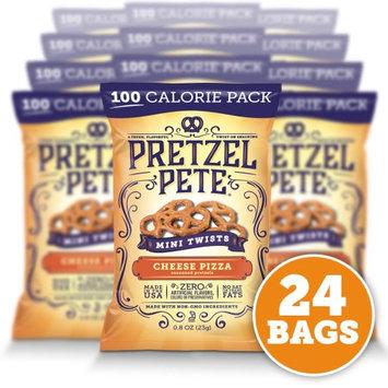 Pretzel Pete, Inc. Pretzel Pete Mini Twist Pretzels, 100 Calorie Pack, Cheesy Pizza, .8 Oz, Pack of 24