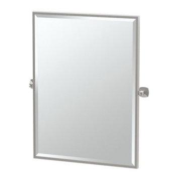 Gatco Jewel 29 in. x 33 in. Framed Single Large Rectangle Mirror in Chrome