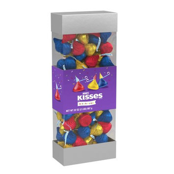 Kisses Birthday Milk Chocolates, 32 Oz