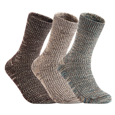 Lian LifeStyle Men's 3 Pairs Pack Wool Socks Assorted Mixed Color Size 8-11