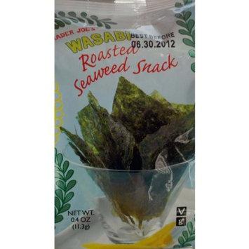 Trader Joe's Wasabi Roasted Seaweed Snack (Pack of 6)