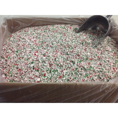 Beulah's Candyland Crushed Mint Red White Green Mint Grind Bakery Topping Sprinkles 2 pounds