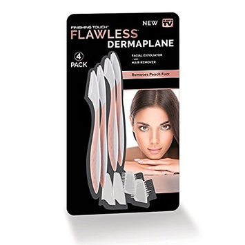 As Seen On TV Flawless DERMAPLANE Facial Exfoliator and Hair Remover (1 Pack of 4)