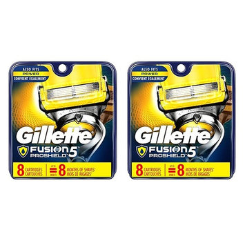 Gillette Fusion Proshield Cartridges, 8 Ct (Pack of 2) + FREE Makeup Blender Sponge