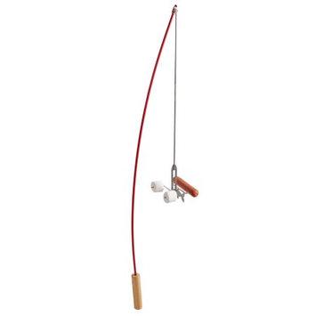 Firebuggz Hot Dog and Marshmallow Roasting Campfire Fishing Pole - Red
