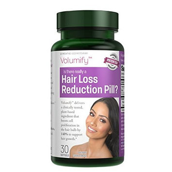 Volumify Hair Loss Reduction Formula Exclusively from Purity Products | Clinically Studied Patented Non-GMO Active Ingredient | 30 softgels