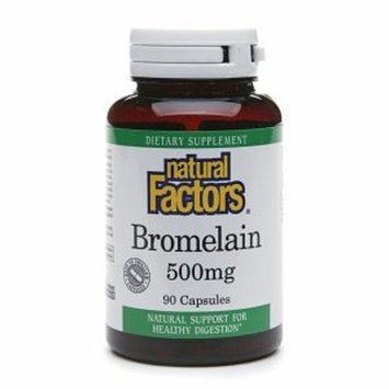 Natural Factors - Bromelain 500mg, Natural Support for Healthy Digestion, 90 Capsules