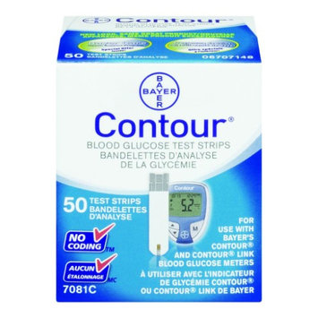 Bayer Contour Microfill Blood Glucose Test Strip - 50 count