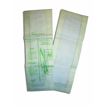 Green Klean Replacement Vacuum Cleaner Bags for Clarke/Alto ReliaVac 12HP 16HP, Eureka F & G, Kent, Fits all vacuums that use F & G
