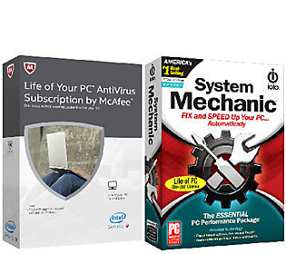 McAfee Antivirus+ System Mechanic for the Life of 1 PC