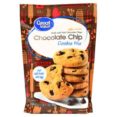 Wal-mart Stores, Inc. Great Value Chocolate Chip Cookie Mix, 17.5 oz