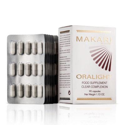 Makari Oralight 100% Drug-Free Skin Lightening Dietary Supplement? Melanin Blocking Regimen for Hyperpigmentation, Age Spots & Uneven Skin? 90 Softgel Capsules