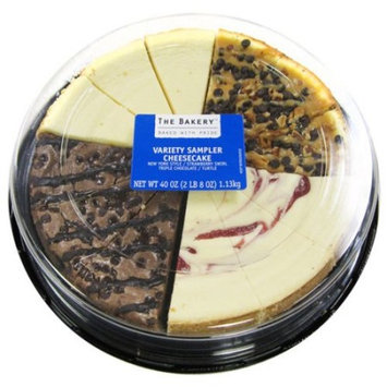 The Bakery At Walmart Strawberry Swirl/Turtle Pecan/Triple Chocolate/New York Cheesecake Sampler, 44 oz