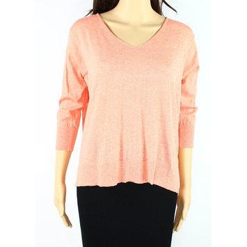 Cotton Emporium NEW Orange Women Small S Ribbed Crisscross-Back Knit Top