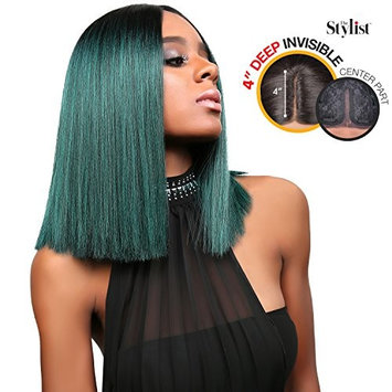 The Stylist Synthetic Lace Front Wig Deep Lace Center Part Poker Straight Bob
