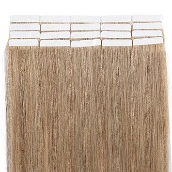 Tape In Virgin Human Hair Extensions 100% Remy Human Hair 20 pieces x 4 cm wide Human Hair 16