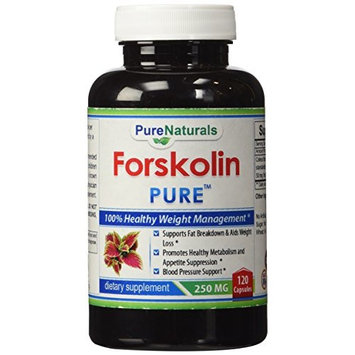 Pure Naturals Forskolin Extract, 250 Mg, 120 Count