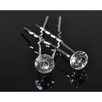 GBSTORE 12 Pcs Transparent Crystal Rhinestones Hair Pins, Beautiful Hair Accessories for Every Occasion