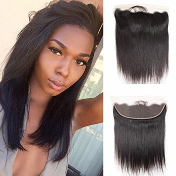 Brazilian Straight Virgin Hair Ear To Ear Full Lace Frontal Closure 13x4