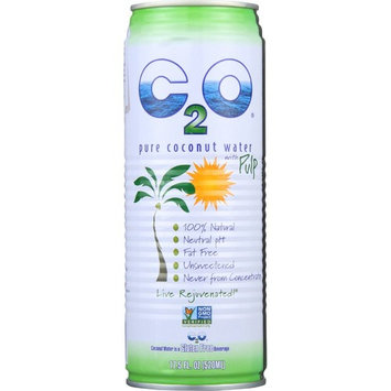 C2O Coconut Water, Pure, With Pulp, 17.5 Oz (Pack Of 12)