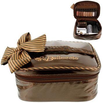 Belloccio Airbrush Makeup Travel Carry Bag Brown Cosmetic Organizer Storage Case