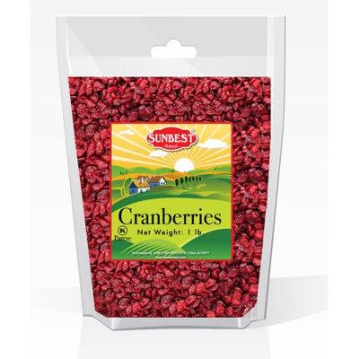 SUNBEST Dried Cranberries Sweetened, Unsulfured in Resealable Bag, Kosher Certified (1 Lb)