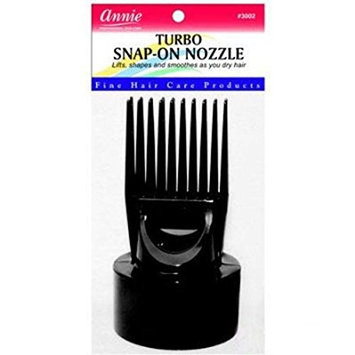 [Pack of 3] ANNIE TURBO SNAP-ON HAIR DRYER Nozzle #3002: Beauty