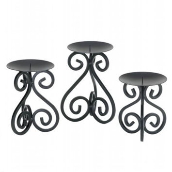 Zingz & Thingz 57071265 Iron Spirals Candle Stand Trio