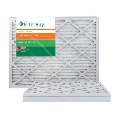 AFB Bronze MERV 6 23.5x23.5x1 Pleated AC Furnace Air Filter. Filters. 100% produced in the USA. (Pack of 4)