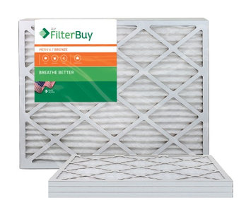 AFB Bronze MERV 6 22x26x1 Pleated AC Furnace Air Filter. Filters. 100% produced in the USA. (Pack of 4)