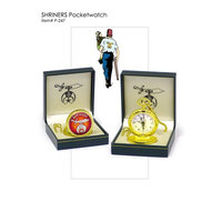 Shriners Logo Pocket Watch - Goldtone Quartz Timepiece Is The Perfect Gift