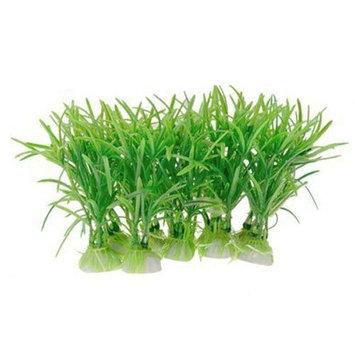 Sonline 10PCS Plastic Green Aquarium Fish Tank Plant Green
