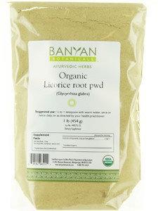 Banyan Botanicals - Organic Licorice Root Powder Glycyrrhiza Glabra - 1 lb.