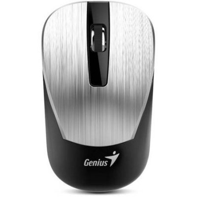 Genius NX-7015 Mouse - BlueEye - Wireless - Radio Frequency - Silver - USB - 1600 dpi - Scroll Wheel - 3 Button(s) - Symmetrical